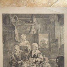 Arte: GRABADO GRAN TAMAÑO. DIBUJADO Y GRABADO POR CORNEL. VISSCHER HACIA 1650. ORIGINAL DE ÉPOCA.. Lote 119484963