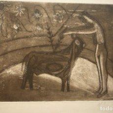 Arte: 'CORRIDA'. GRABADO AL AGUAFUERTE, PP. SIGLO XX. FIRMADO A LÁPIZ POR ¿M.L.SOWIZE?. PLANCHA 25X32 CM.. Lote 119523039