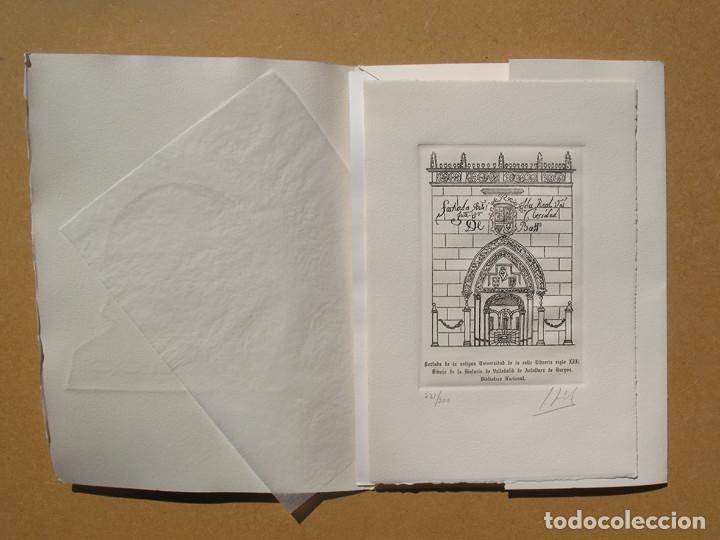 Arte: Portada de la antigua Universidad de Valladolid, S.XIII 172 x 117 mm. Aguafuerte. - Foto 2 - 119540895