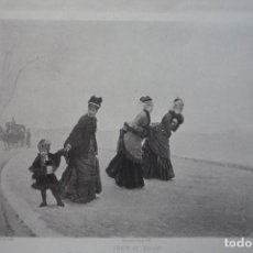 Arte: ISN'T IT COLD? (¿NO HACE FRÍO?). GRABADO POR GOUPIL DE UNA PINTURA DE NITTIS EN 1880.. Lote 119554647