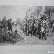 Arte: PASANDO LISTA DESPUÉS DEL SAQUEO. GRABADO POR GOUPIL DE UNA PINTURA DE VIBERT EN 1880.. Lote 119555275