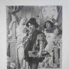 Arte: THE RIGHT PATH (EL CAMINO CORRECTO). GRABADO POR GOUPIL DE UNA PINTURA DE H. MERLE EN 1880.. Lote 119556179