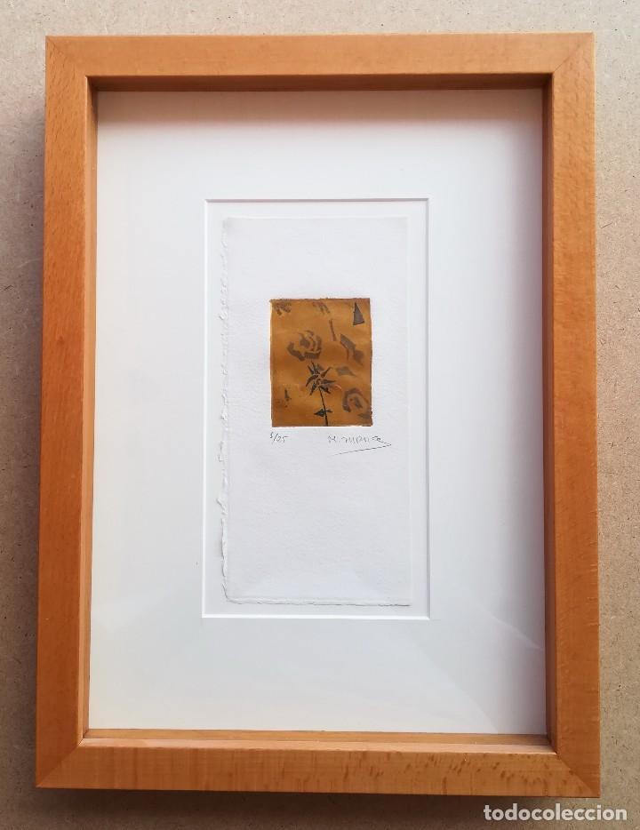 MIGUEL ZARAGOZA, GRABADO, ENMARCADO, 50 X 65 MM (1/25), FIRMADO (Arte - Grabados - Contemporáneos siglo XX)