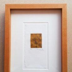 Arte: MIGUEL ZARAGOZA, GRABADO, ENMARCADO, 50 X 65 MM (1/25), FIRMADO. Lote 119564135