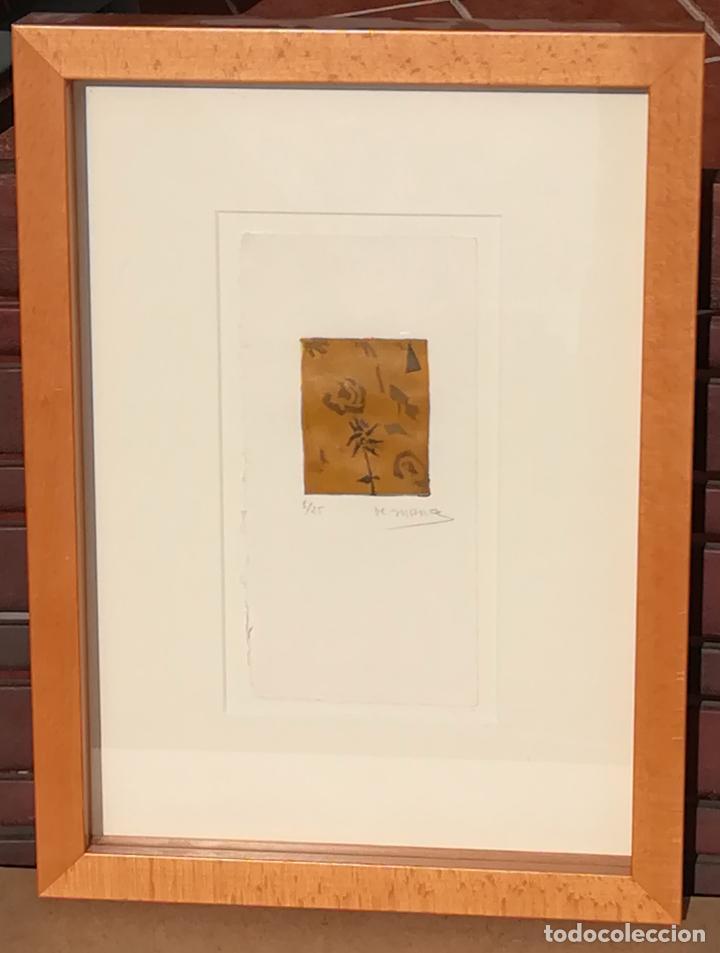 Arte: Miguel Zaragoza, grabado, enmarcado, 50 x 65 mm (1/25), firmado - Foto 7 - 119564135