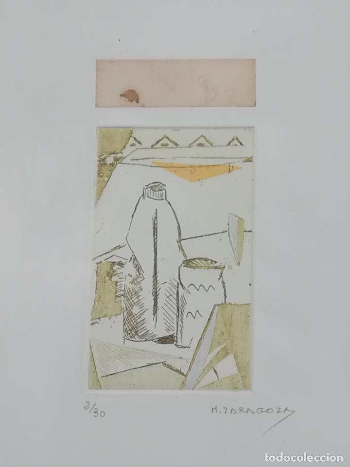 Arte: Miguel Zaragoza, grabado, enmarcado, 50 x 80 mm (2/30) - Foto 2 - 119565603