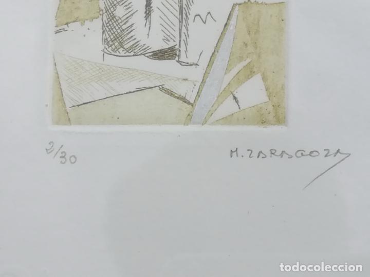 Arte: Miguel Zaragoza, grabado, enmarcado, 50 x 80 mm (2/30) - Foto 3 - 119565603