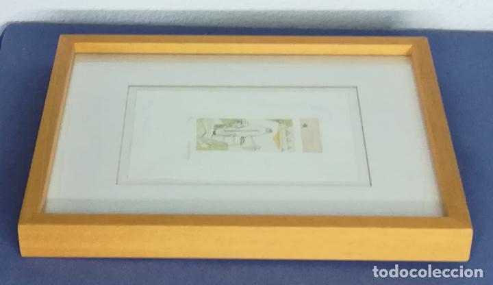 Arte: Miguel Zaragoza, grabado, enmarcado, 50 x 80 mm (2/30) - Foto 6 - 119565603