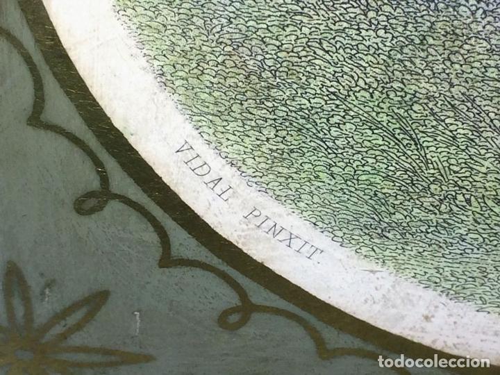 Arte: DAMISELA CON CESTA DE FRUTAS. DE UN ORIGINAL DE VIDAL. POSSELWHITE GRABADOR. ESPAÑA. XIX - Foto 8 - 119618619