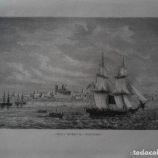 Arte: ANTIGUO GRABADO AMERICA MERIDIONAL - MONTEVIDEO - GUSMANO ET THOMAS. Lote 119629531