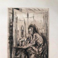 Arte: GRABADO AGUAFUERTE , AGUATINTA Y PUNTA SECA - LLUIS MARIA SAUMELLS - FIRMADO. Lote 119858631