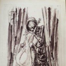 Arte: GRABADO AGUAFUERTE, AGUATINTA Y PUNTA SECA - LLUIS MARIA SAUMELLS - FIRMADO. Lote 119858859