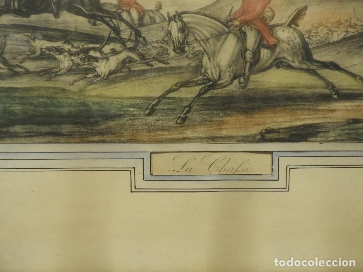 Arte: GRABADO INGLES ANTIGUO ESCENA DE CAZA A CABALLO - Foto 4 - 119878195