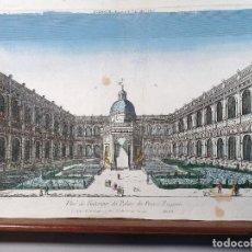 Arte: PALACIO DEL PRINCIPE EUGENE. VISTA ÓPTICA S.XVIII. Lote 119884011