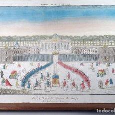 Arte: CASTILLO DE MARLY. YVELINES. FRANCE. VISTA ÓPTICA S.XVIII. Lote 119887787