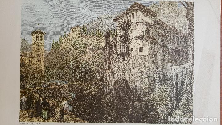 Arte: Grabado en Granada. Remains of a moorish bridge on the darro. David Roberts. - Foto 3 - 120030455