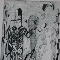 Arte: FJ CASTILLO MÁLAGA 1961GRABADO 17X24,5 PAPEL39X56 EJEMPLAR 1/25 .VAQUERO.MUY BUEN ESTADO.. Lote 120039731
