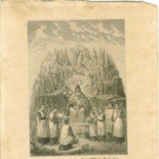 Arte: GRABADO NTRA SRA DE MONTSERRAT. EDITOR M BORDAS BARCELONA 1859. Lote 120469003
