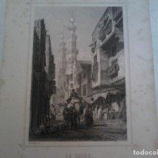 Arte: LE CAIRE - CALLE DEL CAIRO - ROUARGUE FRERES - 1843 CA. Lote 120564803