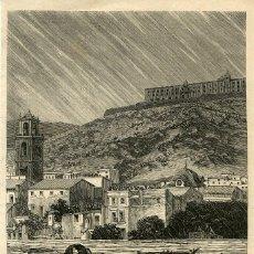 Arte: ORIHUELA (ALICANTE) CUANDO LA INUNDACIÓN DE 1879. LOS HABITANTES SE REFUGIAN EN LAS ALTURAS....... Lote 120571415