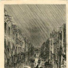 Arte: ORIHUELA (ALICANTE) CUANDO LA INUNDACIÓN DE 1879. DISTRIBUCIÓN DE VÍVERES EN UNA CALLE INUNDADA...... Lote 120571627
