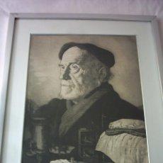 Arte: ANTONIO ZARCO (MADRID, 1930). AGUAFUERTE. 103/195. RETRATO DE PIO BAROJA. FIRMADO. 48 X 37 CM.. Lote 120632519