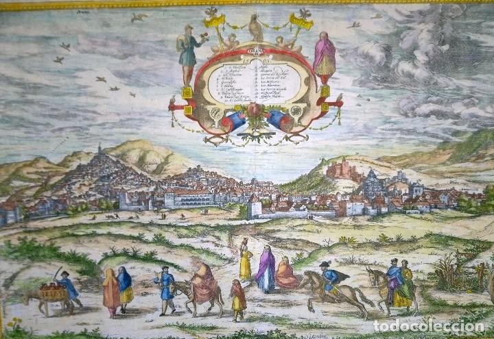 Arte: Grabado antiguo Granada del Civitates Orbis Terrarum con certif. autent. Grabados antiguos Granada - Foto 2 - 54292287