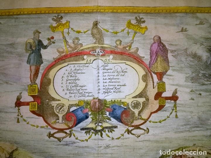 Arte: Grabado antiguo Granada del Civitates Orbis Terrarum con certif. autent. Grabados antiguos Granada - Foto 3 - 54292287