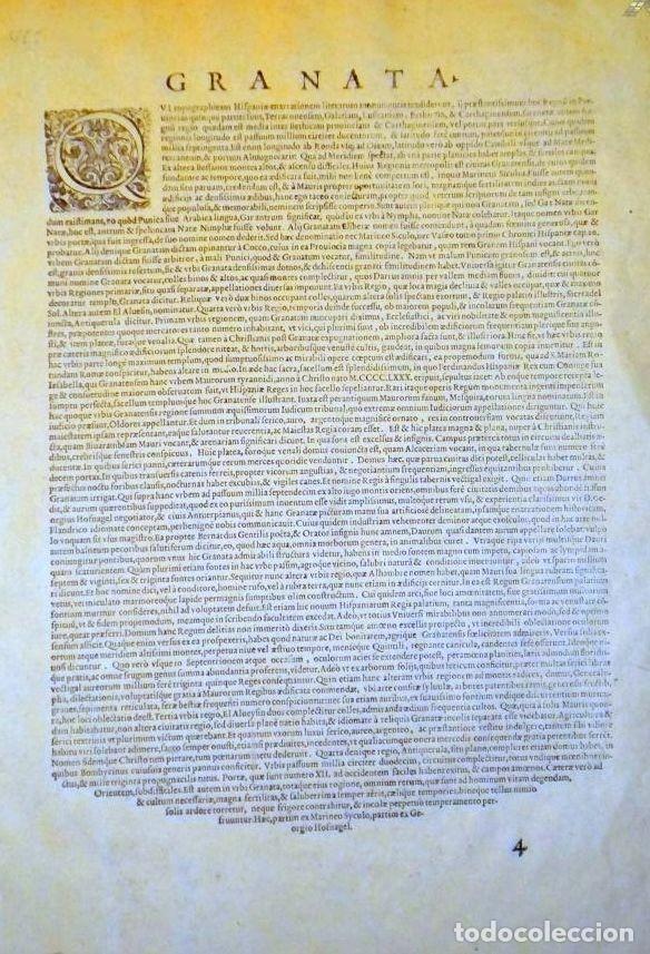 Arte: Grabado antiguo Granada del Civitates Orbis Terrarum con certif. autent. Grabados antiguos Granada - Foto 4 - 54292287