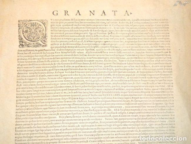 Arte: Grabado antiguo Granada del Civitates Orbis Terrarum con certif. autent. Grabados antiguos Granada - Foto 5 - 54292287