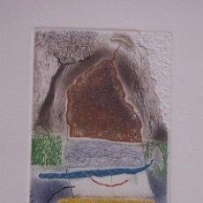 Arte: KABIR SHAHID. PRECIOSO GRABADO VARIAS PLACAS DE 10X15 PAPEL DE 34X43. EJEMPLAR 127/175. BUEN ESTADO. Lote 236050225