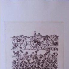 Arte: EXCEPCIONAL GRABADO DEL PINTOR ANTONIO PEDRERO YEBOLES. BATALLA DE TORO. TORO (ZAMORA). 1977. Lote 121018191