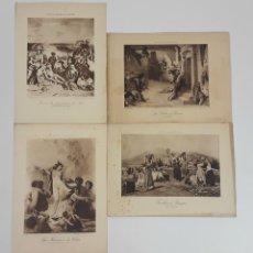 Arte: LOTE DE 4 IMPRESIONES DE ARTE ANTIGUO. DRAEGER IMP. URASEPTINE ROGIER ED. S.XX.. Lote 121229187