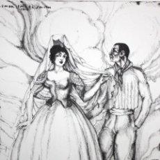 Arte: ISMAEL SMITH MARÍ (BARCELONA, 1886 – NUEVA YORK, 1972) GRABADO FIRMADO Y FECHADO DEL AÑO 1910. Lote 121295955
