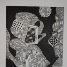 Arte: FJ CASTILLO MÁLAGA 1961GRABADO AGUAFUERTE Y AGUATINTA DE 17X25 PA. ASTRONÁUTA Y PAYASO.. Lote 121356503
