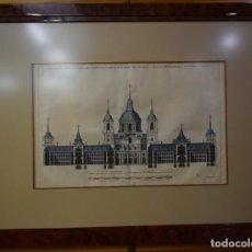 Arte: ESTAMPA ESCORIAL(3) J.DE HERRERA 102*75((290€). Lote 121531143