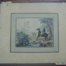 Arte: PRECIOSO GRABADO COLOREADO DE CARLE VERNET(1758-1836) FIRMADO, POSIBLE FINALES DEL SIGLO XVIII. Lote 121732103