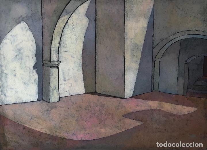 LINÓLEO - ISABEL MAS - FIRMADO (Arte - Grabados - Contemporáneos siglo XX)