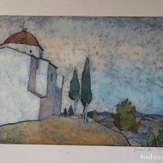 Arte: LINÓLEO - ISABEL MAS - FIRMADO. Lote 121742075