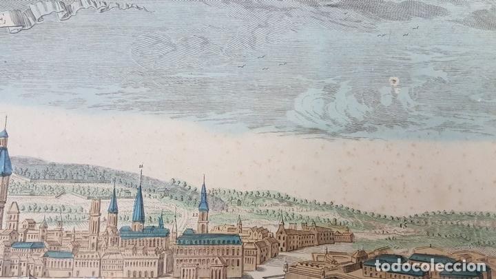 Arte: PUERTO DE BARCELONA CIUDAD. GRABADO COLOREADO SOBRE PAPEL. SIGLO XVIII-XIX. - Foto 5 - 121954339