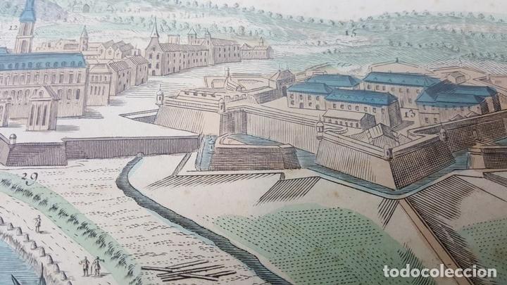 Arte: PUERTO DE BARCELONA CIUDAD. GRABADO COLOREADO SOBRE PAPEL. SIGLO XVIII-XIX. - Foto 16 - 121954339