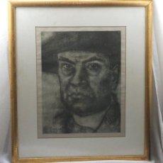Arte: RETRATO DE RUBÉN DARÍO. OBRA DE DANIEL VÁZQUEZ DÍAZ. ENMARCADO EN CRUZ, C/ LINEROS, 15. SEVILLA. Lote 122020031