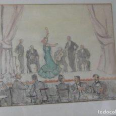 Arte: JUAN ESPLANDÍU. ACUARELA. Lote 122151219