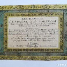 Arte: LES ROYAUMES D ESPAGNE ET DE PORTUGAL - VAN DER AA - ECIJA - ARCHIDONA - CORDOBA -MAPA Y GRABADOS. Lote 122221699