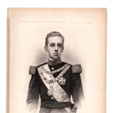 Arte: GRABADO. MONARQUIA. ALFONSO XIII REY DE ESPAÑA. B.MAURA - MEDIDAS TOTALES 13 X 19 CM. Lote 122294399