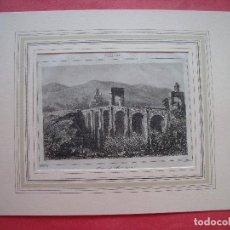 Arte: ALCANTARA.-PUENTE DE ALCANTARA.-GRABADO.-GRABADO AL ACERO.-GAUCHEREL.-LEMAITRE.-SIGLO XIX.. Lote 122433007