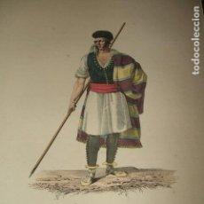 Arte: MURCIA HOMBRE MURCIANO GRABADO ILUMINADO CHASSELAT HACIA 1800. Lote 122563927