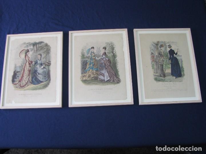 Coleccion de tres grabados en color. revista la - Verkauft in ...