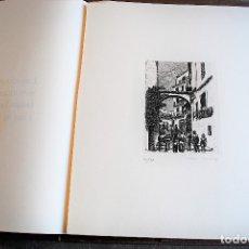 Arte: BENIDORM. SEIS PLANCHAS GRABADAS AL AGUAFUERTE POR EL PINTOR CARTAGENERO A. ALEGRE CREMADES.. Lote 53613112