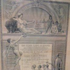 Arte: FRANCISCO DE VILLAR-1893-HISTÓRICO.PREMIO EN GRABADO -WORLD'S COLUMBIAN EXPO CHICAGO. Lote 123082055